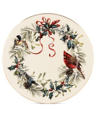 Winter Greetings Dinner Plate