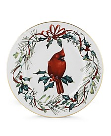 Winter Greetings Salad Accent Plate