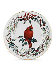 CLOSEOUT! Lenox Dinnerware, Winter Greetings Salad Accent Plate