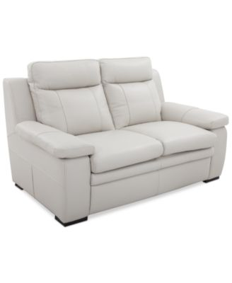 zane leather loveseat