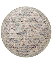 "Macy's Fine Rug Gallery Andreas   AF-05 Silver/Plum 7'10"" Round Rug"