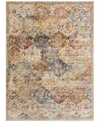 """Andreas   AF-12 Ivory/Multi 2'7"""" x 4' Area Rug"""