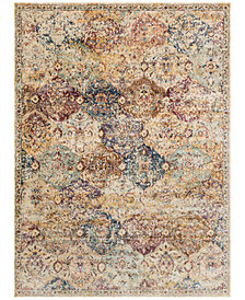 "Macy's Fine Rug Gallery Andreas   AF-12 Ivory/Multi 6'7"" x 9'2"" Area Rug"