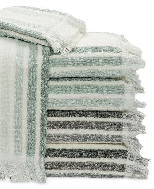 Caro Home Milano Heather Stripe Bath Towel Collection