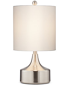 Pacific Coast Low Brushed Steel Table Lamp, Created for Macy's
