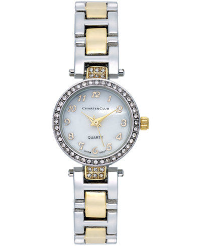 Charter Club Women's Two-Tone Stainless Steel Bracelet Watch 22mm, Only at Macy's