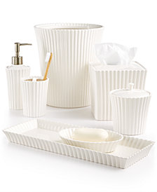 CLOSEOUT! Martha Stewart Collection Ceramic Scallop Bath Accessories, Created for Macy's