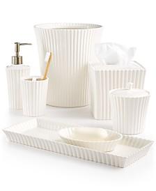 martha stewart collection ceramic scallop bath accessories created for macys