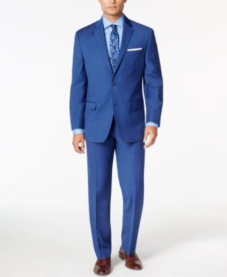Sean John Men's Medium Blue Classic-Fit Suit Separates - Suits ...