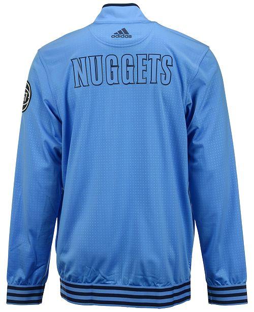 super popular 61876 74d06 adidas Men's Denver Nuggets On Court Warm Up Jacket ...