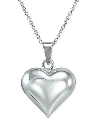 Giani bernini puff heart pendant necklace in sterling silver giani bernini puff heart pendant necklace in sterling silver created for macys aloadofball Images
