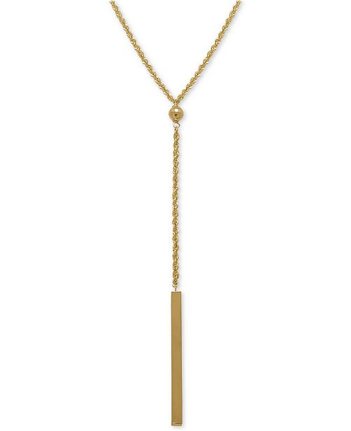 Macy's Rope Bar Lariat Necklace in 14k Gold