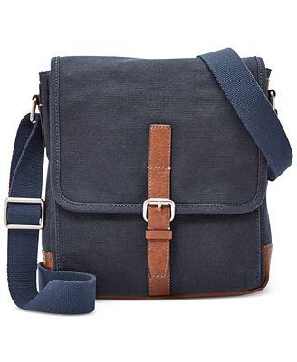 Fossil Davis Canvas Small Messenger Bag - Accessories & Wallets ...