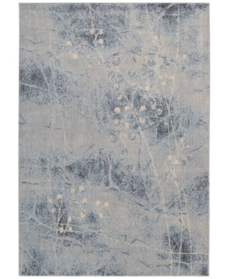"""CLOSEOUT! Somerset Silver/Blue Blossom 2' x 2'9"""" Area Rug"""