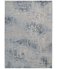 """CLOSEOUT! Nourison Somerset Silver/Blue Blossom 7'9"""" x 10'10"""" Area Rug"""