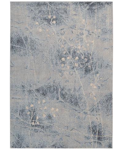 CLOSEOUT! Nourison Somerset Silver/Blue Blossom 5'3