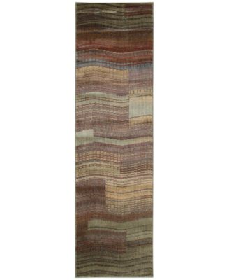 "CLOSEOUT! Somerset Pathway Aqua 2' x 5'9"" Runner Rug"