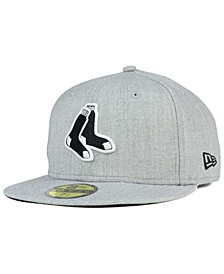 Boston Red Sox Heather Black White 59FIFTY Fitted Cap