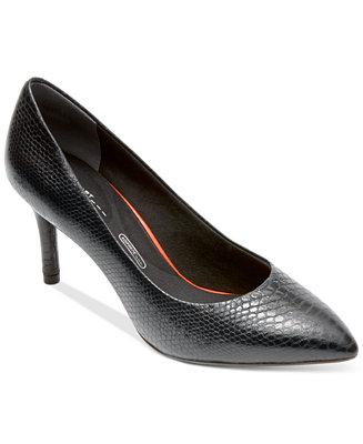 6dbe2c1344 Rockport Women's Total Motion Pointed-Toe Pumps & Reviews - Pumps - Shoes -  Macy's