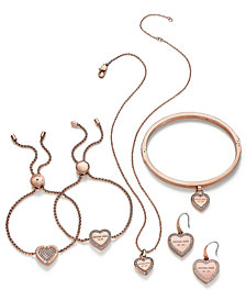 Michael Kors Crystal Heart Logo Jewelry