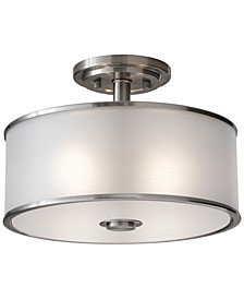 Casual Luxury 2-Light Semi-Flush Mount