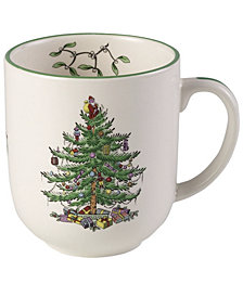 Spode Dinnerware, Christmas Tree Cafe Mug