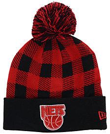 New Era New Jersey Nets Buff Plaid Knit Hat