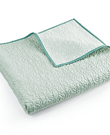 CLOSEOUT! bluebellgray Fern Solid Quilted Twin Coverlet