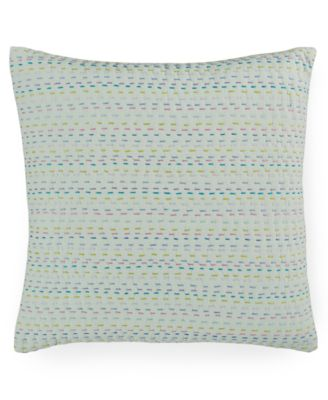 "CLOSEOUT! Melrose Mint Esme Kantha 16"" Square Decorative Pillow"