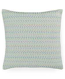 "CLOSEOUT! bluebellgray Melrose Mint Esme Kantha 16"" Square Decorative Pillow"