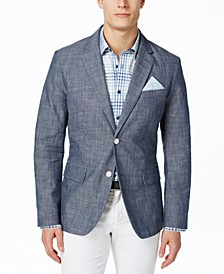 Men's Classic-Fit Chambray Blazer, Created for Macy's