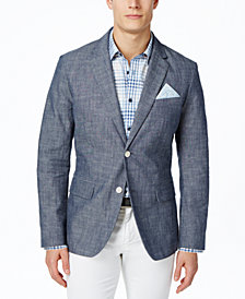 Tasso Elba Men's Chambray Blazer, Created for Macy's
