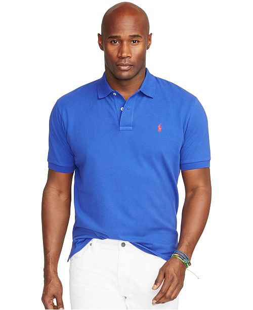 7dc9b068 Polo Ralph Lauren. Men's Big and Tall Classic-Fit Cotton Mesh Polo Shirt. 6  reviews. main image; main image ...