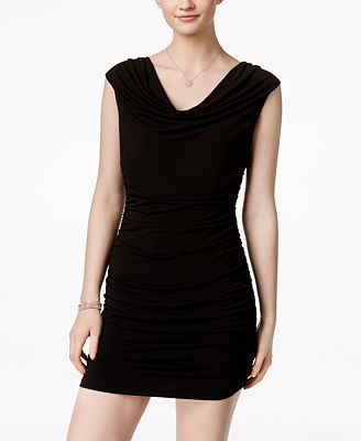 BCX Ruched Bodycon Beaded Dress