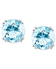 14k White Gold Aquamarine Stud Earrings (3 ct. t.w.)