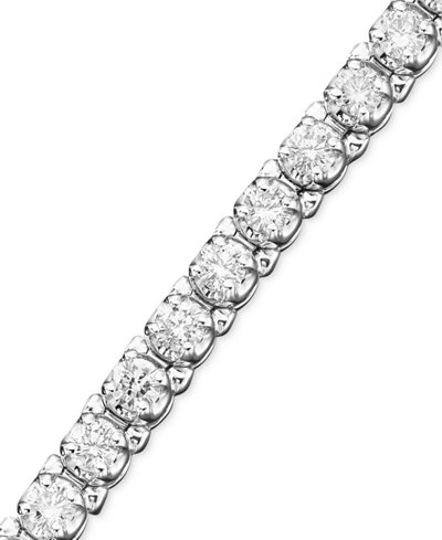 bracelet diamond v round bypass t c sterling and baguette bracelets zales tennis in w silver