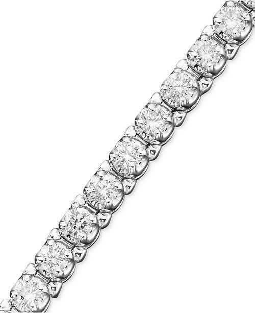 Macy's Certified Diamond Bracelets in 14k White Gold (3 to 3-5/8 ct. t.w.)