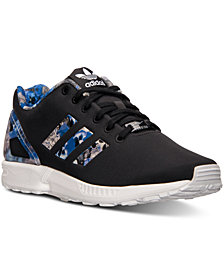 adidas Men's ZX Flux Print Running Sneakers from Finish Line