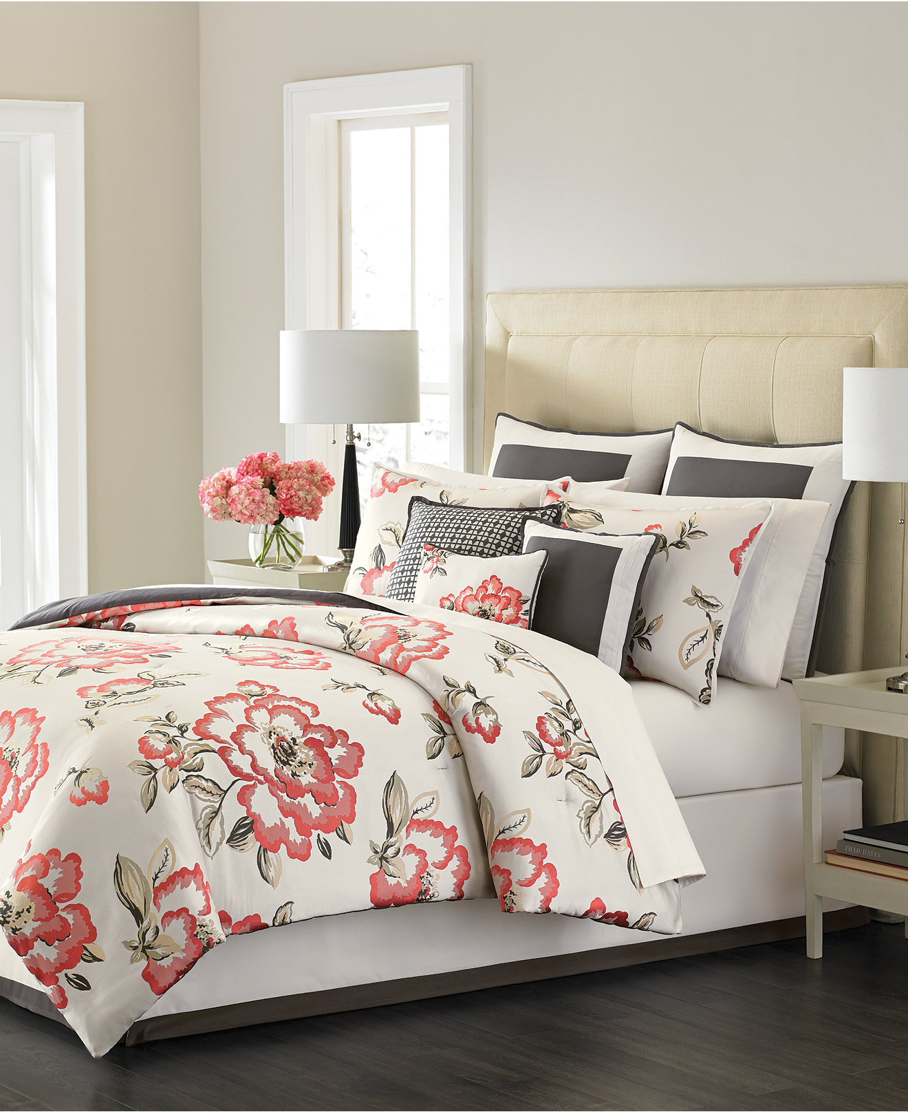 Bedding sets for women - Martha Stewart Collection Peony Blossom 9 Piece Bedding Sets Only At Macy S