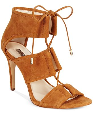 INC International Concepts Ritaa Suede Lace-Up Sandals, Created for Macy's