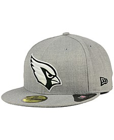 Arizona Cardinals Heather Black White 59FIFTY Fitted Cap