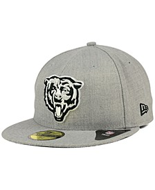 Chicago Bears Heather Black White 59FIFTY Fitted Cap