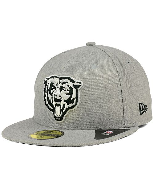 f4bc68ce99a ... New Era Chicago Bears Heather Black White 59FIFTY Fitted Cap ...
