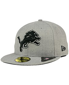 Detroit Lions Heather Black White 59FIFTY Fitted Cap