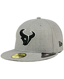 Houston Texans Heather Black White 59FIFTY Fitted Cap