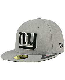 New Era New York Giants Heather Black White 59FIFTY Fitted Cap