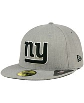 f39dc295ad4 New Era New York Giants Heather Black White 59FIFTY Fitted Cap