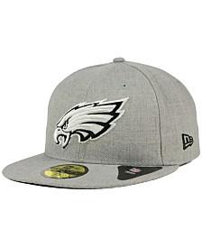 New Era Philadelphia Eagles Heather Black White 59FIFTY Fitted Cap