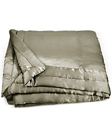 Donna Karan Home Moss Full/Queen Silk Quilt