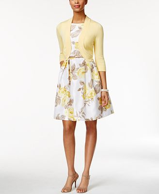 Image result for cardigan over printed dress